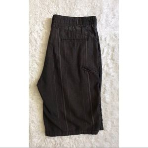 Micros Men's Flat Front Pinstripe Shorts